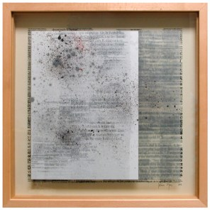 Entre palabras el silencio, niños   vitrina 51 x 51 x 4,5 cm