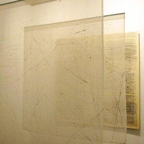 Instalación 'Lugar de tránsito'   Feria Estampa 2004 · Tentaciones   180 x 180 x 180 cm