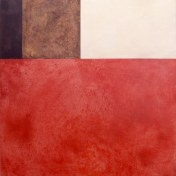 faro III | 100 x 100 cm | óleo sobre tela y chapa de latón