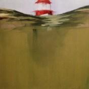 faro de las Berlengas   100 x 100 cm   óleo sobre tela