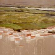 Chamusca | 100 x 100 cm | óleo sobre tela con imprimación serigráfica
