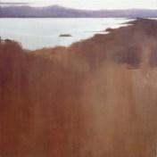embalse de Alcántara | 100 x 100 cm | óleo sobre tela