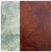 muelle VI | 50 x 50 cm | óleo sobre tela y chapa de hierro