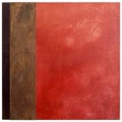 faro V | 50 x 50 cm | óleo sobre tela y chapa de latón