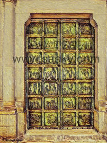 Enter to See Our Lady from Damascus Wall Art Picture