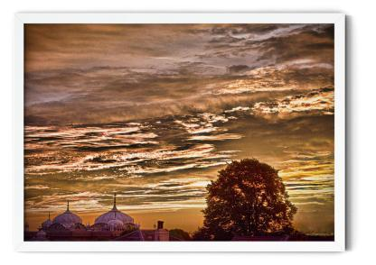 Wall art picture PT05: Gurdwara in Sunset. Fine art HDR colour photo