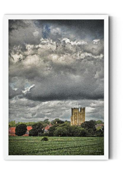 Wall art picture PT01: 12th Century Castle Keep. In old darkened colour photograph style