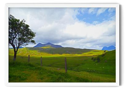PT03: Strathcanaird in the Feet of Twin Peak Mountain. Landscape colour photograph wall art picture