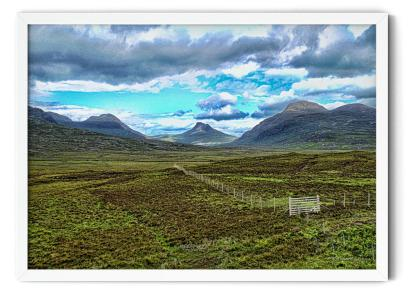 PT00: Guardians of the Loch. Landscape HDR photograph wall art picture
