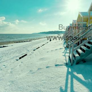 Winter Morning on Minster Leas Beach Wall Art Picture