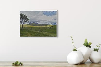 "Strathcanaird in the Feet of Twin Peak Mountain Wall Art Picture (16.5"" x 11.7"")"