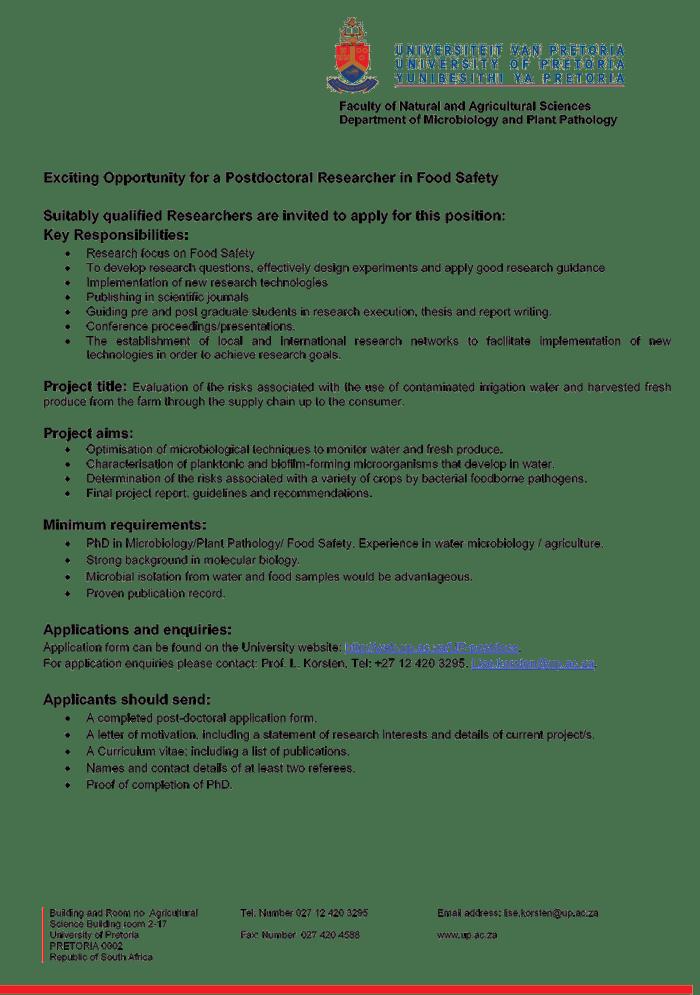 Lettre de motivation pour postdoc (Cover letter for postdoc application)