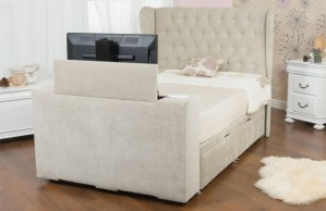 Sweet Dreams Image Deluxe Upholstered TV Bed
