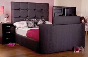Sweet Dreams Jasmine Upholstered TV Bed