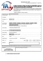 MANDAT DE PRELEVEMENT SEPA FA SPP-PATS