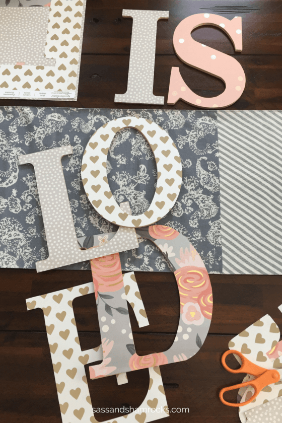 DIY Nursery Name Art