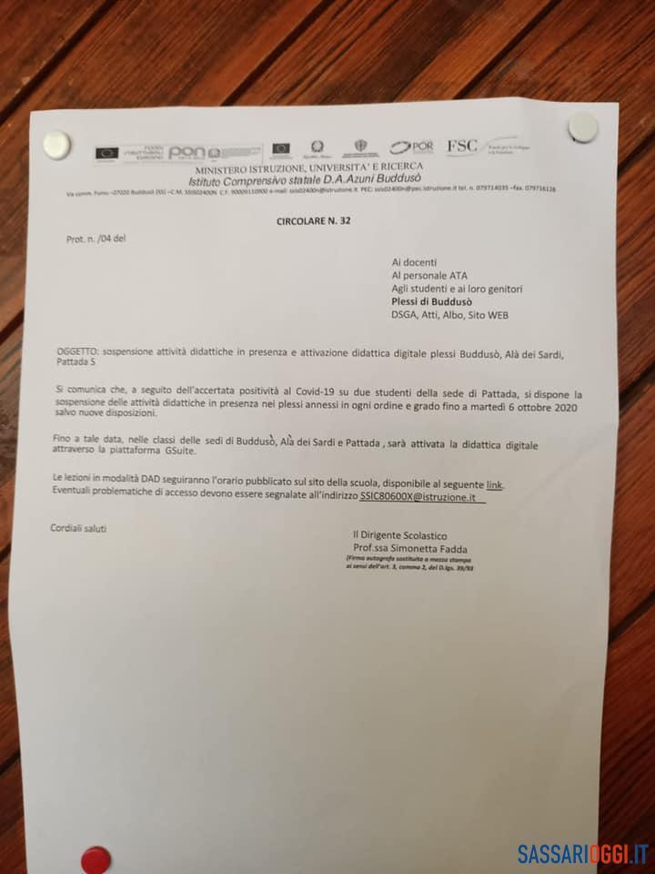 """""""Scuola chiusa per coronavirus"""", falso cartello all'ingresso dell'istituto di Pattada"""