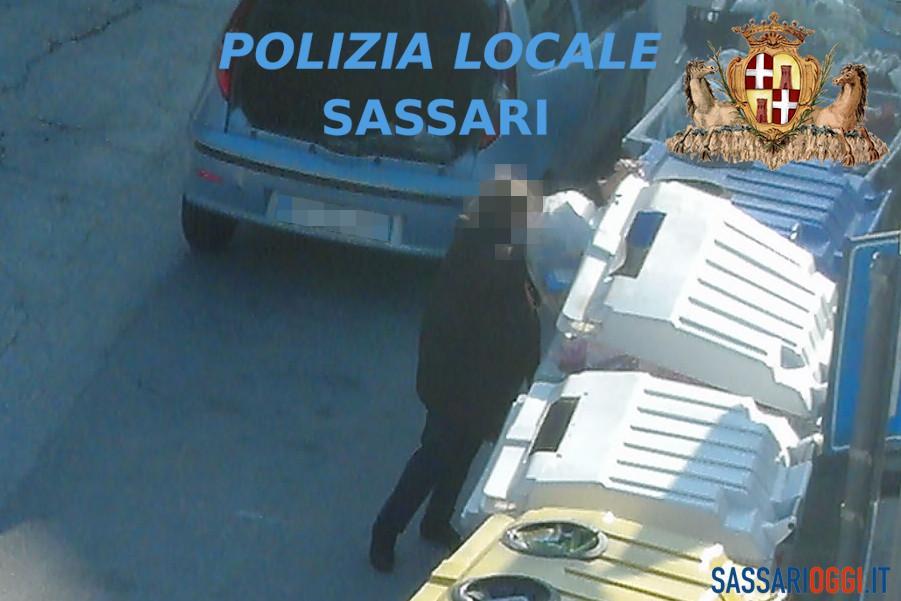 Continua la battaglia contro i furbetti dei rifiuti: oltre 30 multe a Sassari