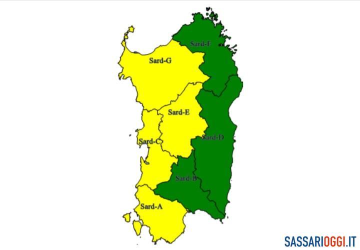 Maltempo in arrivo su Sassari e provincia: prorogata l'allerta meteo