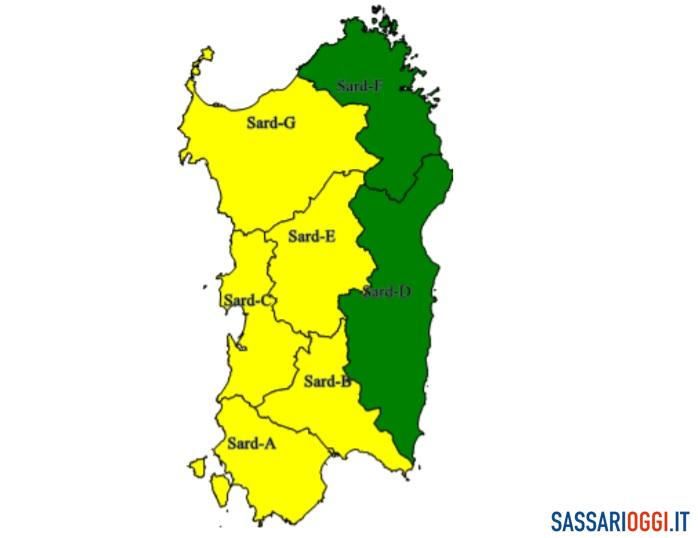 Maltempo a Sassari e provincia, estesa l'allerta meteo anche per domani
