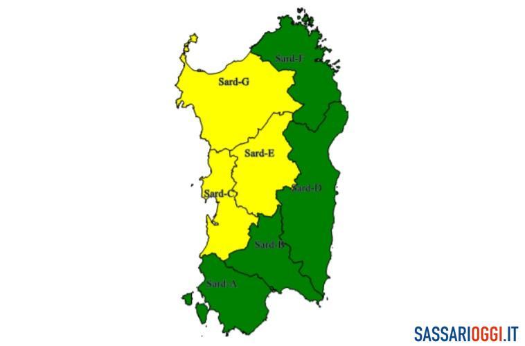 Pioggia e temperature in picchiata, ancora maltempo su Sassari e provincia