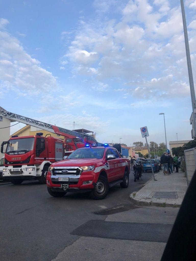 Incendio a Sassari, fiamme in un'abitazione del quartiere Li Punti