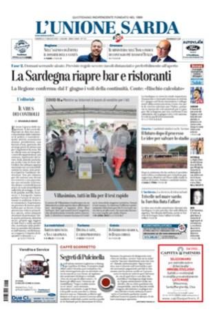 Prima Pagina Unione Sarda 17 maggio