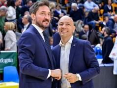 Gianmarco Pozzecco e Stefano Sardara