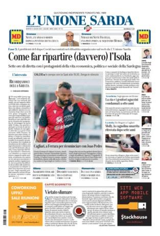 Prima pagina Unione Sarda 23 giugno