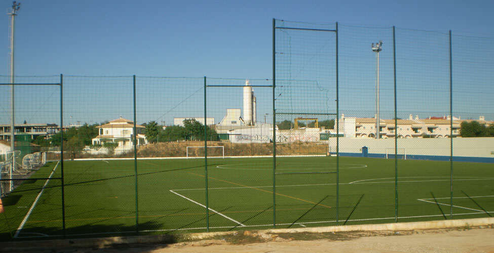FC Ferrerias artificial 3G turf pitch. The new venue for Saturday afternoon's game.