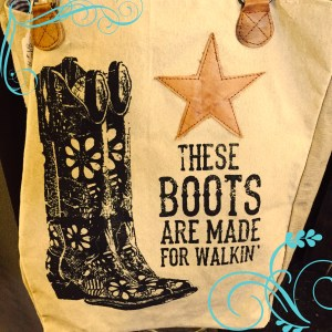 These Boots Are Made For Walking Bag