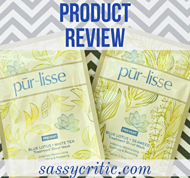 Purlisse facial sheet mask product review - sassycritic.com