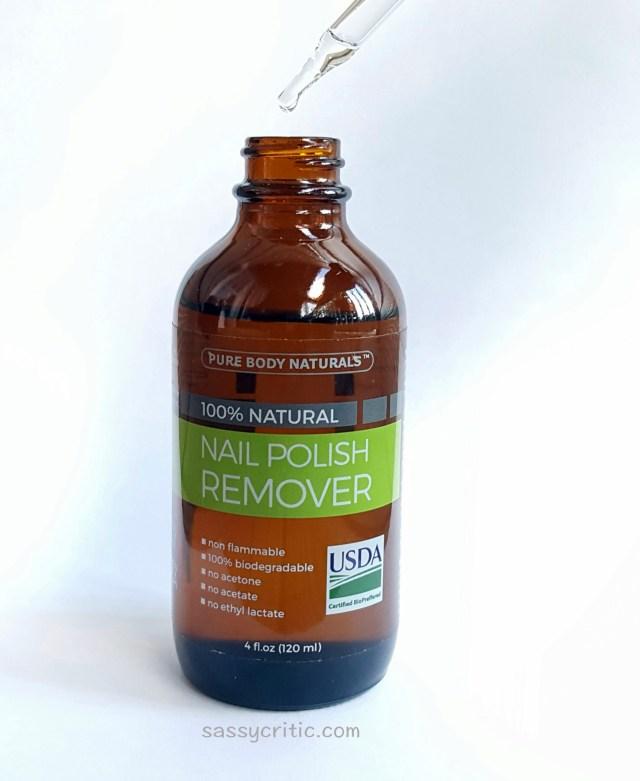 Product Review: 100% Natural Nail Polish Remover - Sassy Critic