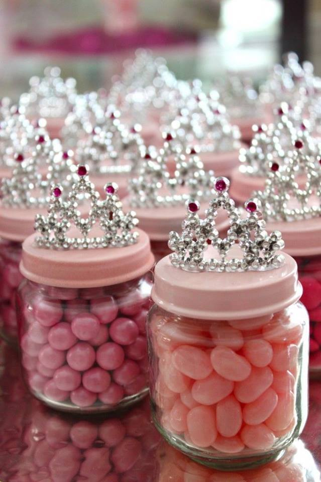 DIY Baby Food Jar Princess Crown Party Favors | Crafty Morning