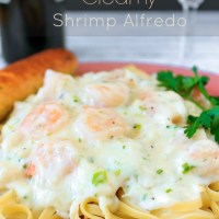 Creamy Shrimp Alfredo With Crab - Seafood Pasta Recipe