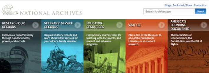 National Archives Website Redesign