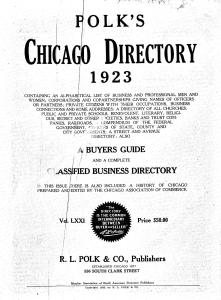 free chicago city directorie sonline