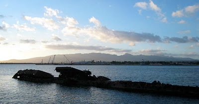 USS Utah Memorial, Ford Island, Pearl Harbor, Hawaii, 6 Dec 2011
