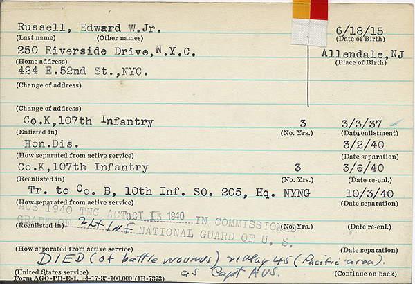 New York State World War II Database
