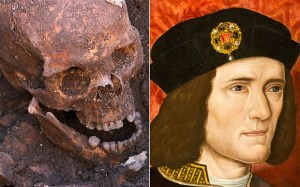 A University of Leicester photograph shows the skeleton of King Richard III found at the Grey Friars Church excavation site in Leicester, England.