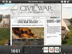 Apps explore the Civil War and World Wars I and II