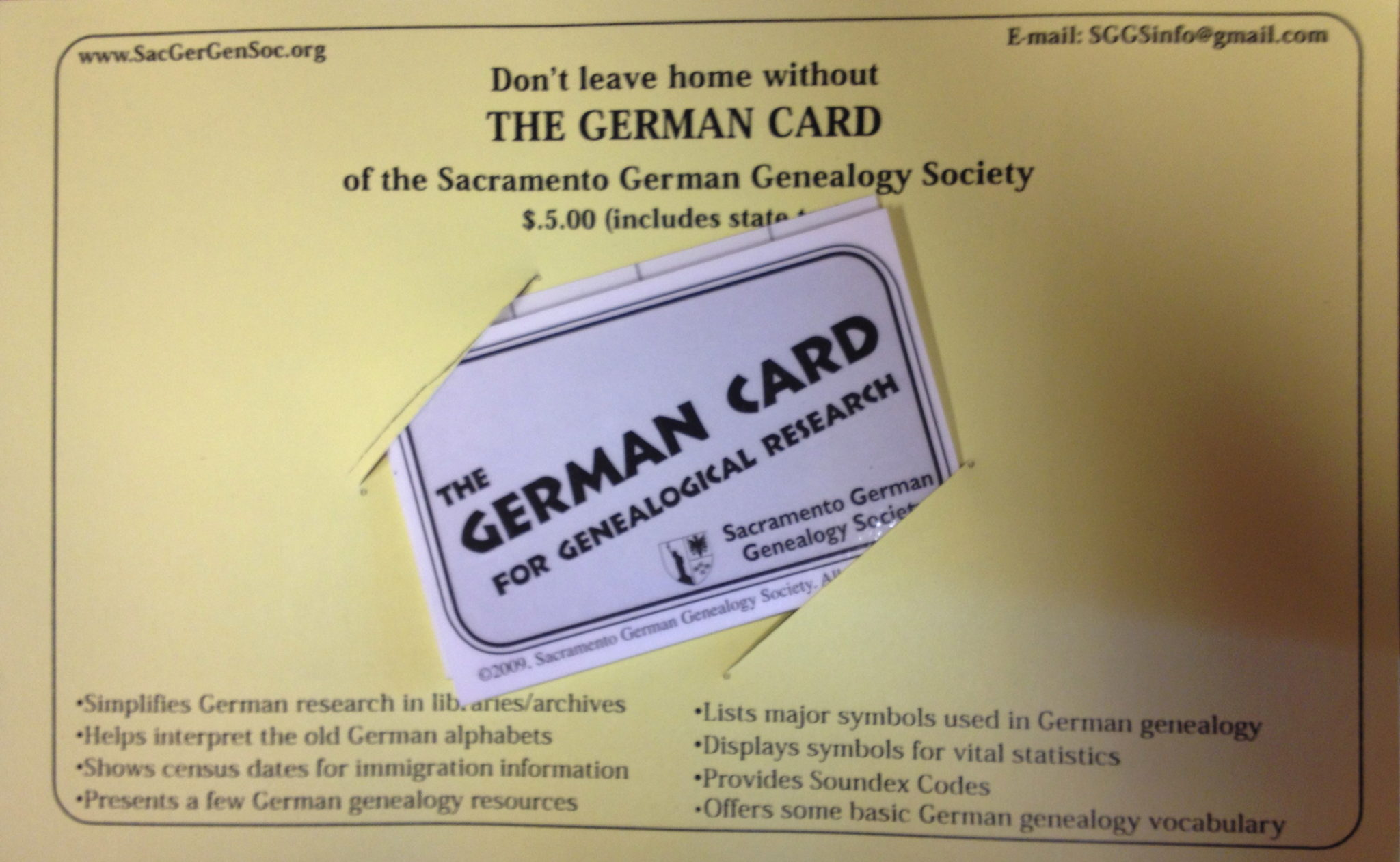 German Card for Genealogy Research | Sassy Jane Genealogy