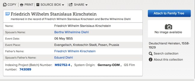 finding missing german marriage records