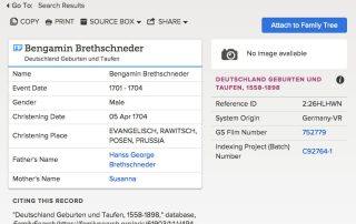 FamilySearch German Databases Updated