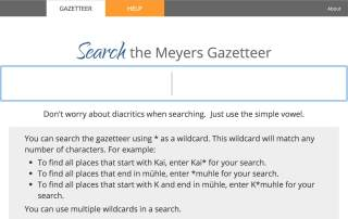 Finding German Place Names at Meyersgaz.org