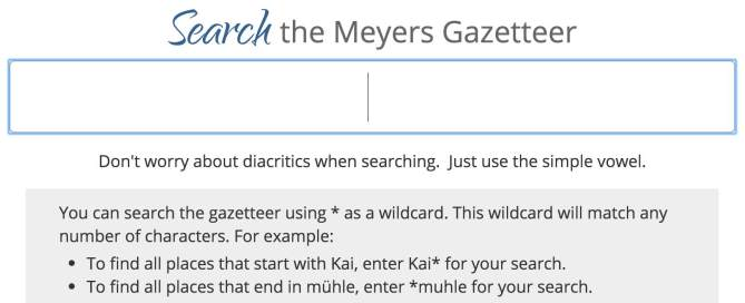 Finding German Place Names at Meyersgaz.org