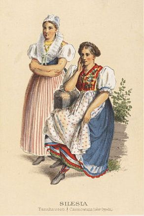 German Peasant Costumes Silesia Tannhausen_