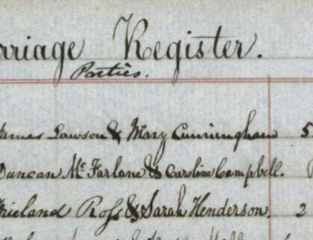 searching for McFadzean sassy jane genealogy