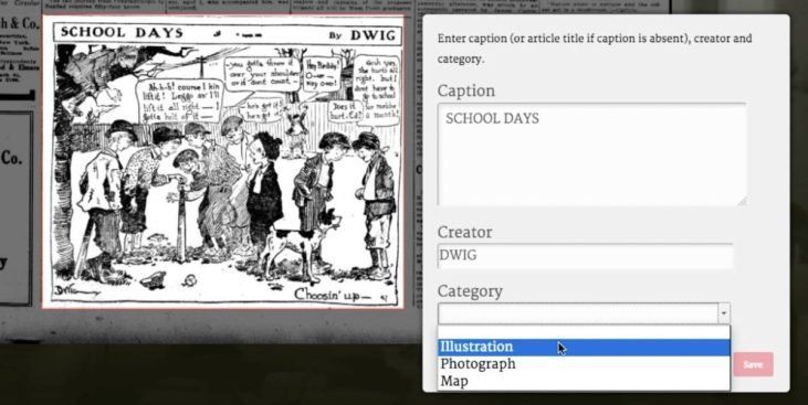 Making Historic Newspaper Photos Searchable