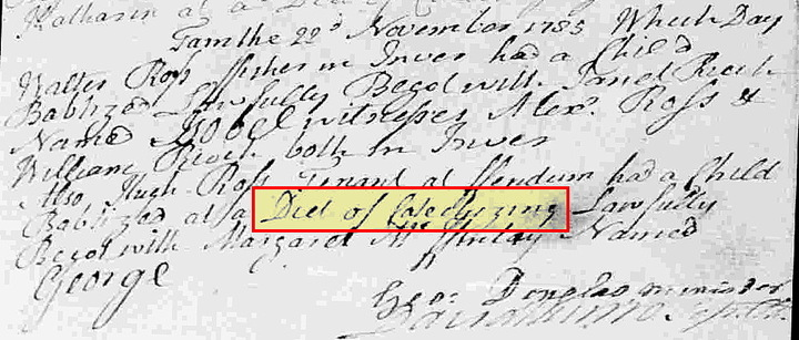 Transcribing Scottish Baptism Records